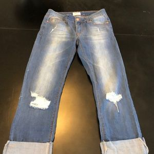 Girls cropped jeans by Hudson